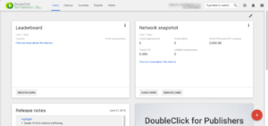 Getting started with DoubleClick for Publishers SB