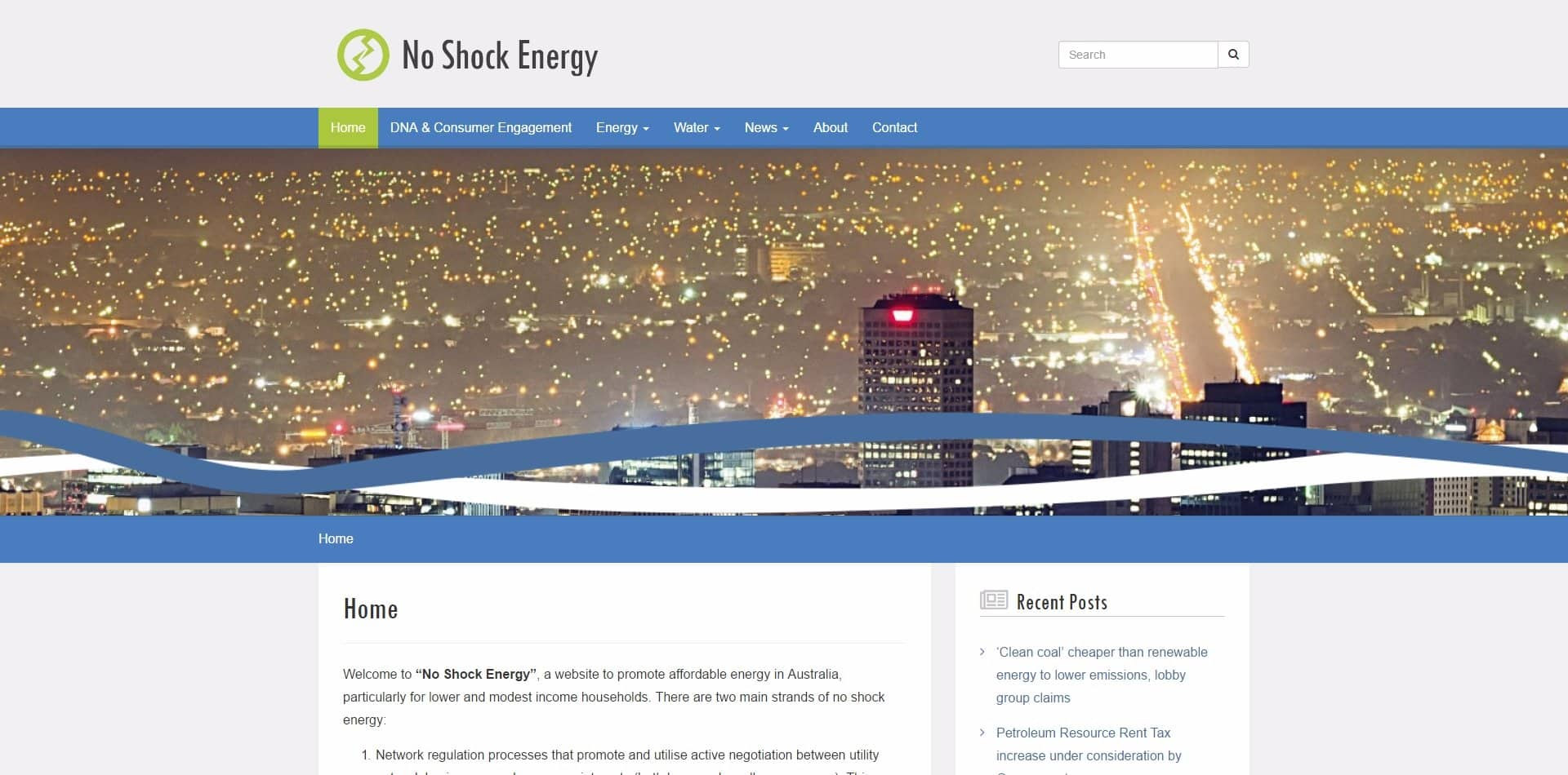 No Shock Energy – Website Redesign