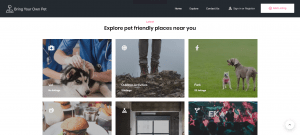 Bring your own pet – Listing Website