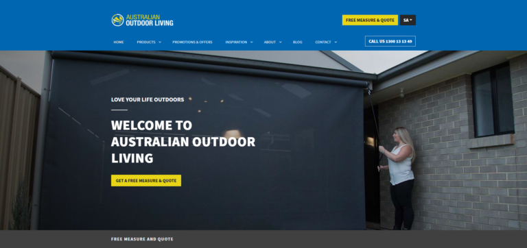 Australian Outdoor Living WordPress Website Redesign